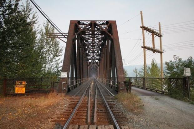 Old railway bridge Prince George, Canada