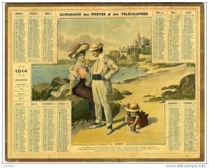 calendrier 1914