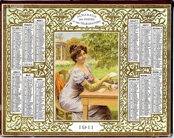ecritoire vieux calendriers